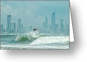 Queensland Photo Greeting Cards - Surfers Paradise Greeting Card by Thomas Kurmeier