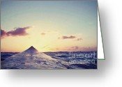 Point Of View Greeting Cards - Surfers Sunset Greeting Card by Paul Topp