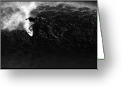Big Wave Surfing Greeting Cards - Surfing Bonsai Pipeline Greeting Card by Brad Scott