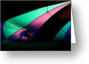 Hot Air Balloon Photo Greeting Cards - Surfing the Silk Greeting Card by Mike  Dawson