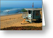 On The Beach Greeting Cards - Surfrider 4th Greeting Card by Ron Regalado