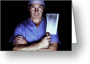 Arms Folded Greeting Cards - Surgeon As A Butcher Greeting Card by Kevin Curtis
