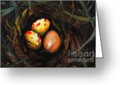 Clandestine Greeting Cards - Surprise Egg  Greeting Card by Rick Adkins