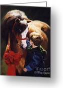 Little Boy Greeting Cards - Surprise Greeting Card by Janet  Crawford