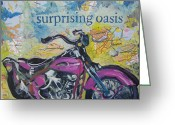 Tilly Strauss Greeting Cards - Surprising Oasis Greeting Card by Tilly Strauss