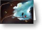 Most Greeting Cards - Surreal Art by Shawna Erback Be Careful With It Greeting Card by Shawna Erback