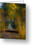 Johannessen Greeting Cards - Surreal Autumn Greeting Card by Torfinn Johannessen
