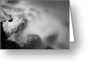 Misty Prints Prints Greeting Cards - Surreal Rocks Greeting Card by Jonah  Anderson