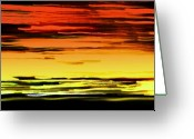 Stock Still Life Photo Greeting Cards - Surreally Sunsety Greeting Card by Louie Rochon