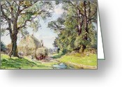 Spring Scenes Greeting Cards - Surrey Landscape  Greeting Card by Edmund George Warren