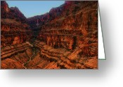 Canyon Walls Greeting Cards - Surrounded by Terraced Grand Canyon Walls Greeting Card by Douglas Barnard