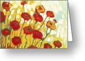 Poppy Greeting Cards - Surrounded in Gold Greeting Card by Jennifer Lommers