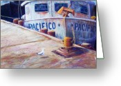 Mexican Pastels Greeting Cards - Surveying the Fleet Greeting Card by Candy Mayer