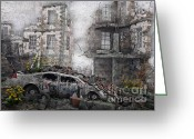 Survivor Greeting Cards - Survivors between Ruins Greeting Card by Jutta Maria Pusl