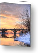 Wrightsville Greeting Cards - Susquehanna Sunrise Greeting Card by JC Findley