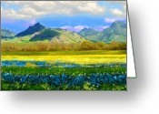 Transformative Art Greeting Cards - Sutter Buttes in Spring Greeting Card by Lisa Redfern