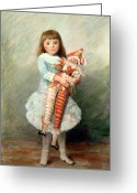 Pierre Renoir Greeting Cards - Suzanne Greeting Card by Pierre Auguste Renoir