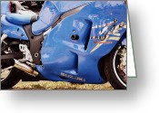 Sculptural Greeting Cards - Suzuki Hayabusa Greeting Card by Michelle Calkins
