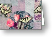 Colorful Photography Painting Greeting Cards - Swallowtail Butterfly 1 Greeting Card by JQ Licensing
