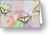 Colorful Photography Painting Greeting Cards - Swallowtail Butterfly 3 Pastel Greeting Card by JQ Licensing
