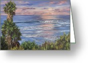 Reinhardt Greeting Cards - Swamis Sunset Greeting Card by Lisa Reinhardt