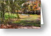 Autumn Photographs Greeting Cards - Swamp Boat Day Off Greeting Card by Ester  Rogers