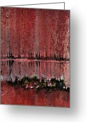 Abstract Framed Prints Framed Prints Greeting Cards - Swamp With Sin Greeting Card by Jerry Cordeiro