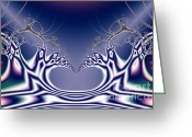 Mandelbrot Set Greeting Cards - Swan Lake Ballet . S7 Greeting Card by Wingsdomain Art and Photography