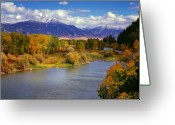 Idaho Greeting Cards - Swan Valley Autumn Greeting Card by Leland Howard