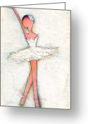 Little Girls98 Greeting Cards - Swan White Greeting Card by Ricky Sencion