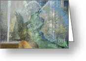Swann Greeting Cards - Swann Fountain Greeting Card by John Greim