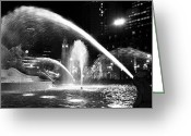 Logan Circle Greeting Cards - Swann Memorial Fountain Greeting Card by Andrew Dinh