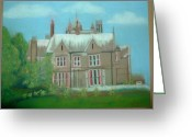 Hall Pastels Greeting Cards - Swarcliffe Hall Greeting Card by Mark Dermody