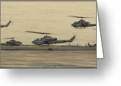 Custom Art Photo Greeting Cards - Swarming Cobras Greeting Card by Ricky Barnard