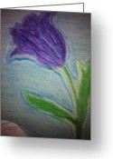 Tulips Pastels Greeting Cards - Swaying Tulip Greeting Card by Courtney Gainey