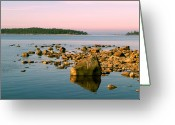 Johannessen Greeting Cards - Swedish Coastline Greeting Card by Torfinn Johannessen