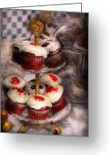 Cup Cakes Greeting Cards - Sweet - Cupcake - How much is that cake in the window Greeting Card by Mike Savad
