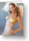 Loving Self Greeting Cards - Sweet Angel Greeting Card by Lisa Piper Stegeman