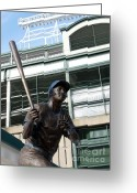 Wrigley Field Greeting Cards - Sweet Billy Williams Greeting Card by David Bearden