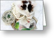 Playful Kitten Greeting Cards - Sweet Dreams Greeting Card by Datha Thompson