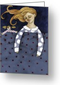 Pajamas Greeting Cards - Sweet Dreams Greeting Card by Georgiana Chitac
