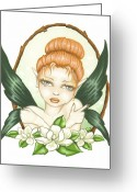 Magnolia Greeting Cards - Sweet Magnolia Fae Greeting Card by Elaina  Wagner
