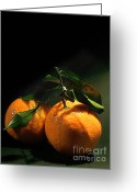 Luscious Greeting Cards - Sweet Orange Greeting Card by Zeana Romanovna