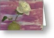 Lime Photo Greeting Cards - Sweet Pea Rose Greeting Card by Marsha Heiken