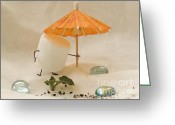 Raining Greeting Cards - Sweet Sprouts Greeting Card by Heather Applegate