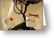 Engagement Gift Greeting Cards - Sweet Surprise Greeting Card by Heather Applegate