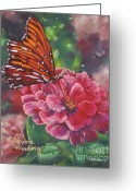 Flower. Petals Pastels Greeting Cards - Sweet Visitation Greeting Card by Debbie Harding