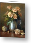 Cent Greeting Cards - Sweetheart Roses Greeting Card by Lyndall Bass