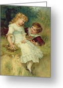 1905 Greeting Cards - Sweethearts Greeting Card by Frederick Morgan