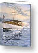 Mist Greeting Cards - Swell Greeting Card by Richard De Wolfe